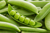 Close-up of peas in pea pod