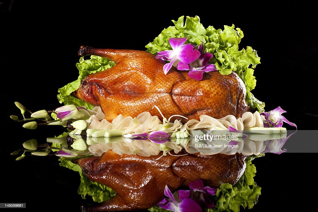 Close-up of Peking roasted duck : Stock Photo