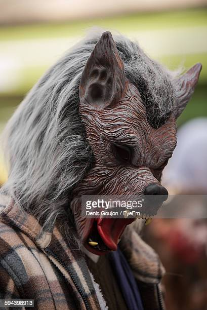 Close-Up Of Person Dressed As Zombie