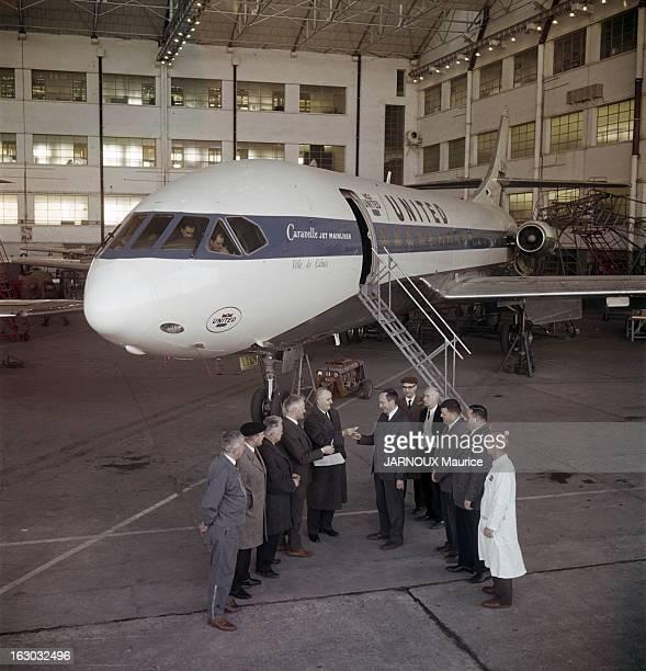 CloseUp Of Pierre Satre Inventor Of The Caravelle 20 janvier 1962 Pierre SATRE a conçu dessiné et fait construire la Caravelle Dans les usines de Sud...