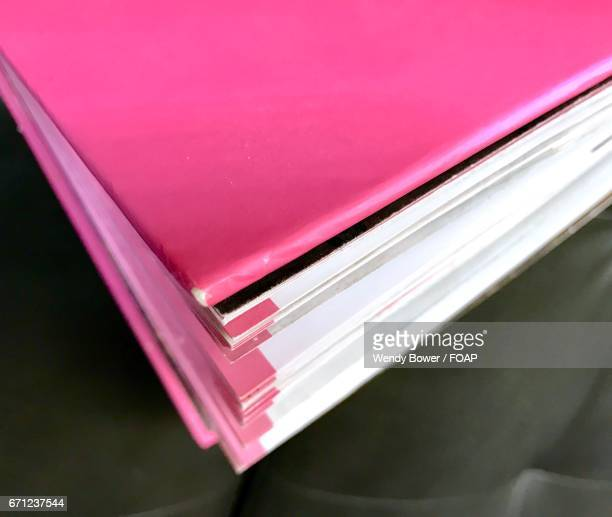 Close-up of pink book