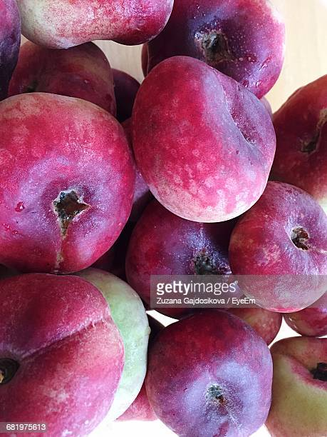 Close-Up Of Pink Flat Peaches