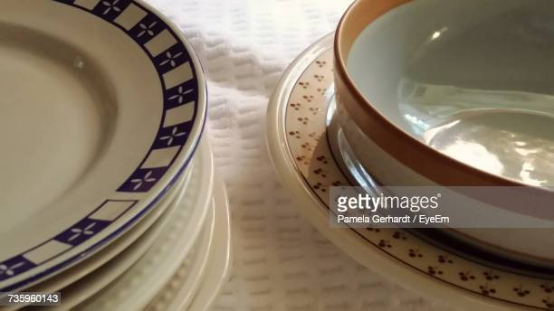 Close-Up Of Plates