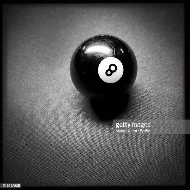 Close-up of pool ball