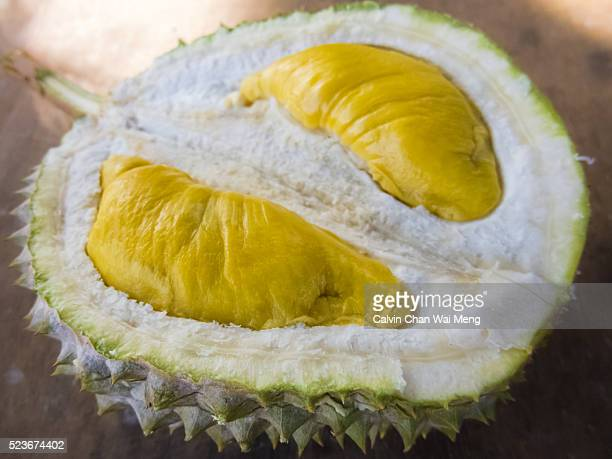 Close-up of popular durian grade - the 'Musang King' Durian