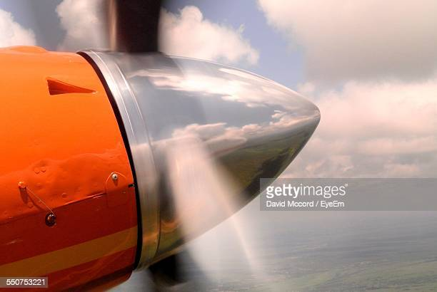 Close-Up Of Propeller Airplane