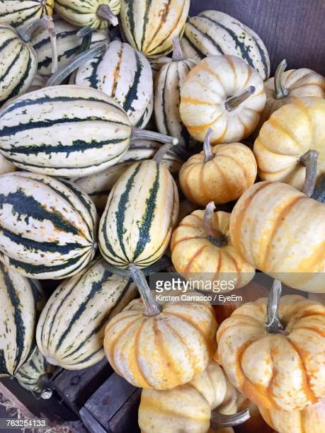 Close-Up Of Pumpkins For Sale At Market