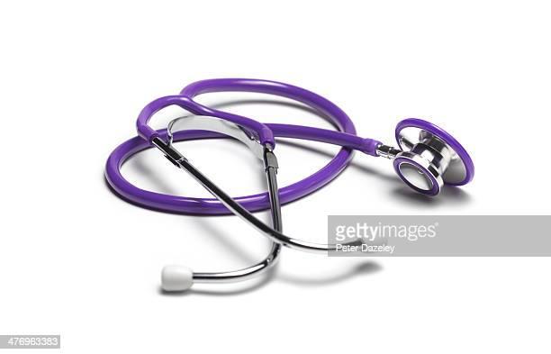 Close-up of purple stethoscope