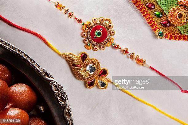Close-up of Rakhis