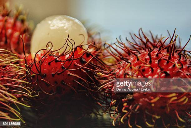 Close-Up Of Rambutans On Table