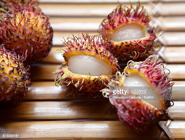Close-Up Of Rambutans