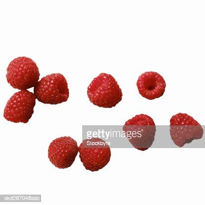 Close-up of raspberries : Stock Photo