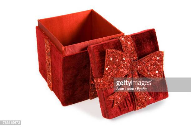 Close-Up Of Red Box Over White Background