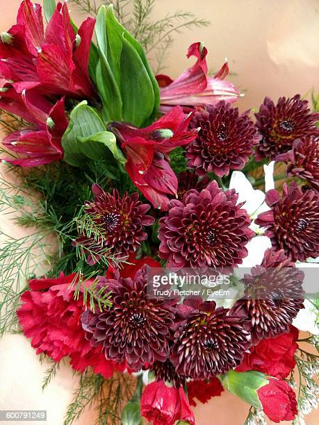 Close-Up Of Red Flowers Bouquet