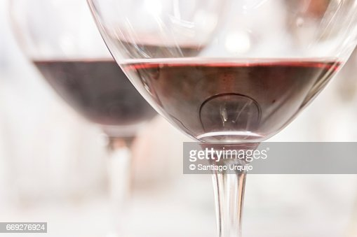 Close-up of red wine glass : Stock Photo
