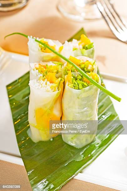 Close-Up Of Rice Paper Rolls