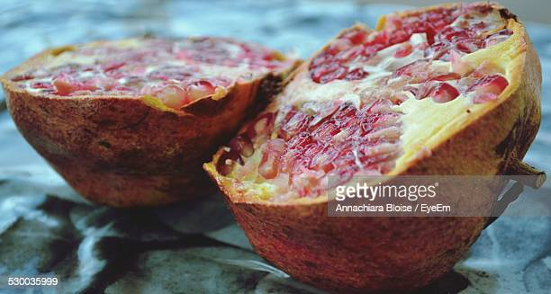 Close-Up Of Rotting Pomegranate