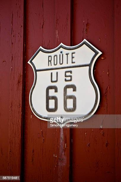Close-up of Route 66 Sign