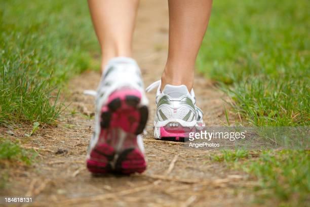 Closeup of running shoes