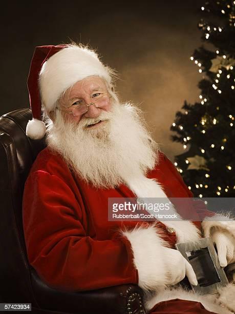 Close-up of Santa Claus smiling