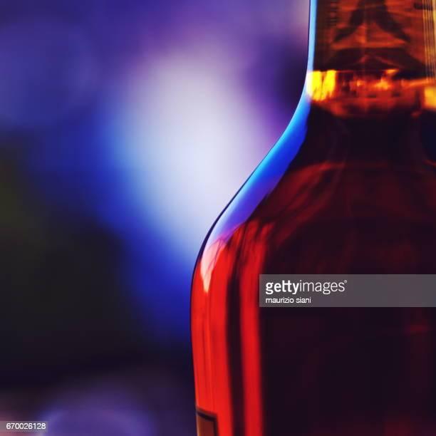 Close-Up of Scotch Bottle