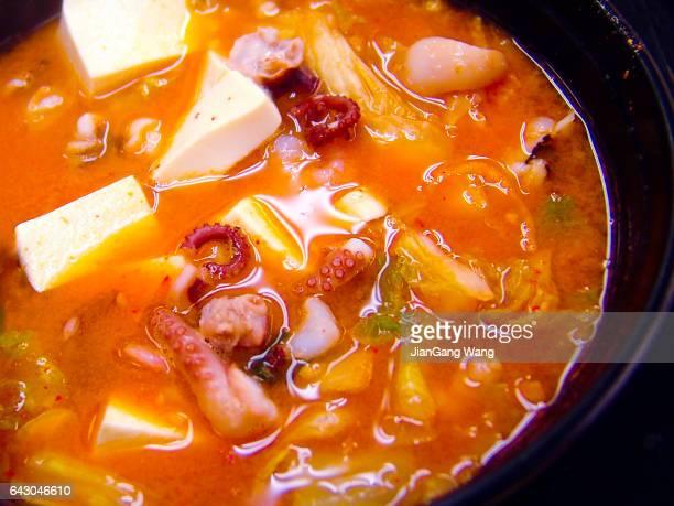 Close-up of Seafood Jjigae