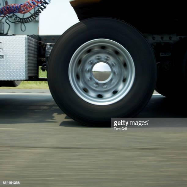 Closeup of Semi Truck Tires