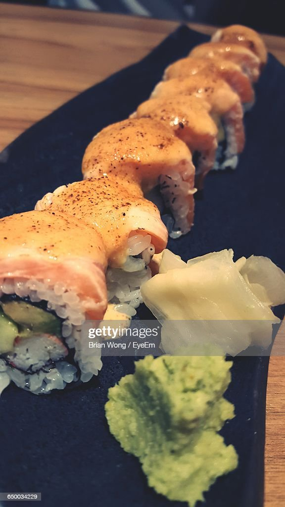 Close-Up Of Served Sushi