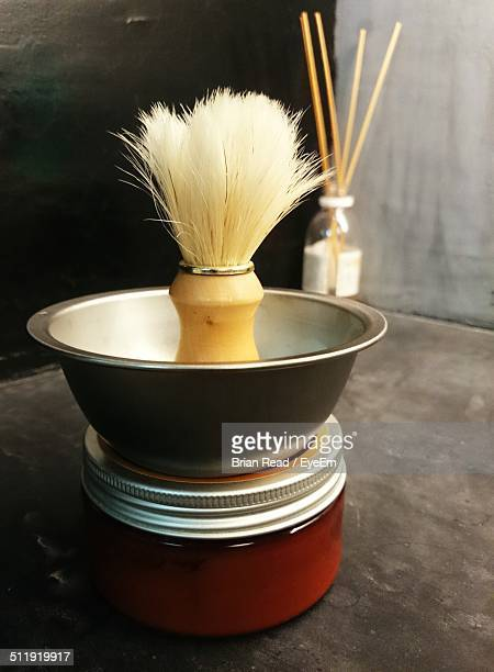 Close-up of shaving brush
