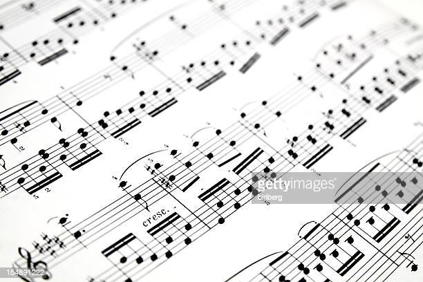 Close-up of sheet music background