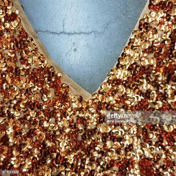 Close-up of shiny dress