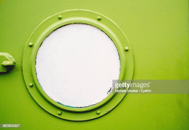 Close-Up Of Ship Porthole