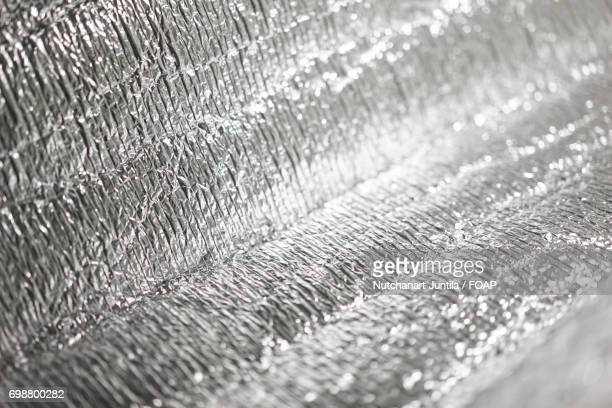 Close-up of silver paper