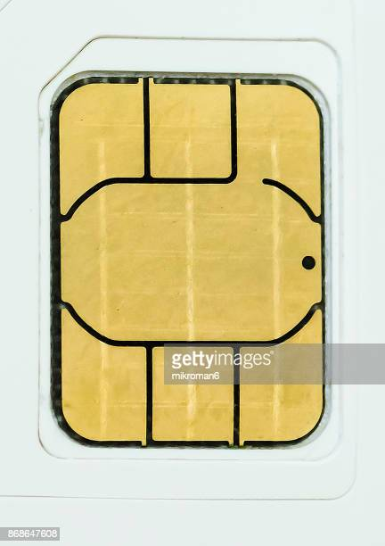 Close-Up Of Sim Card On White Background