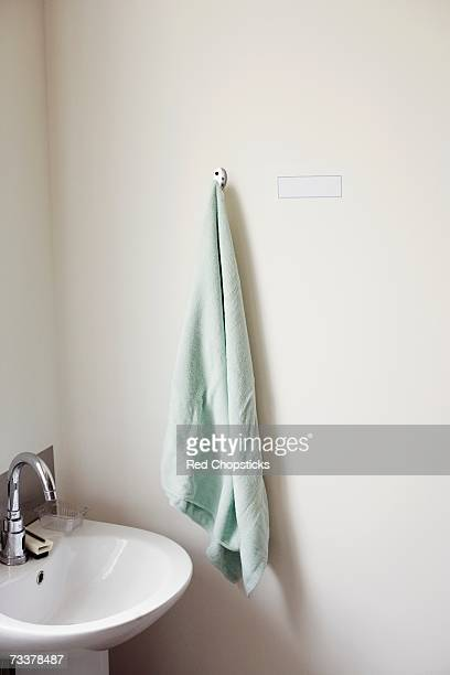 Close-up of sink and a towel