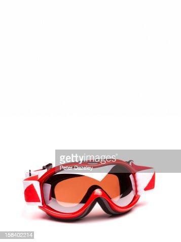 Close-up of ski goggles : Stock Photo