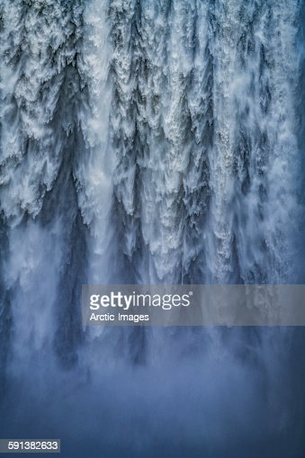 Close-up of Skogafoss Waterfall, Iceland