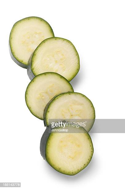 Close-up of sliced cucumbers fresh