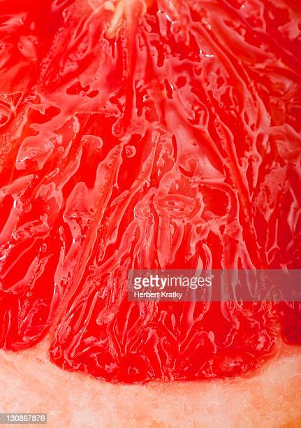 Close-up of sliced grapefruit