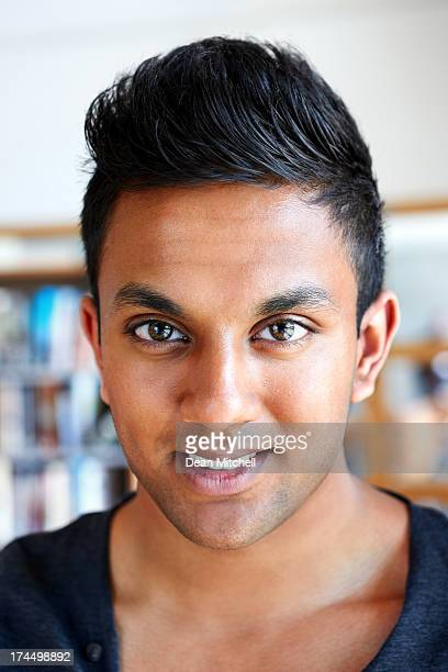 Closeup of smart Indian boy