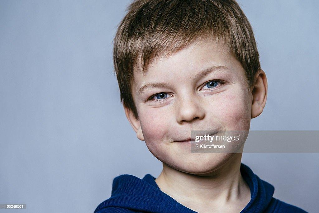 Close-up of smiling boy