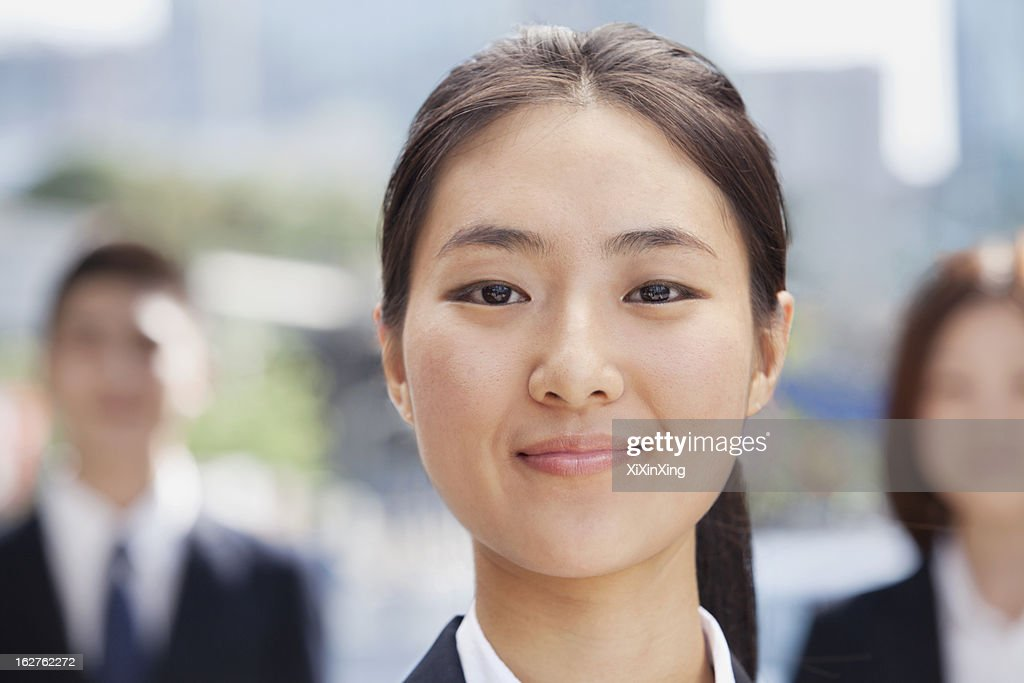 Close-Up of Smiling Businesswoman : Stock Photo