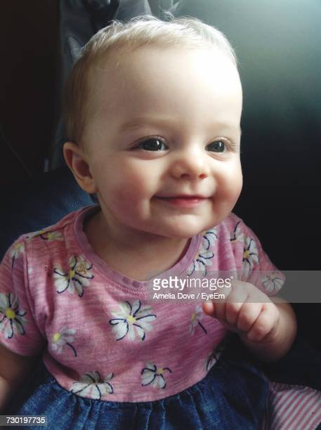 Close-Up Of Smiling Cute Baby Girl