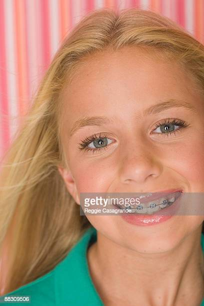 Close-up of smiling pre-teen girl