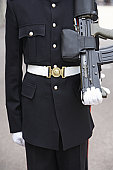 Close-Up Of Soldier In Uniform
