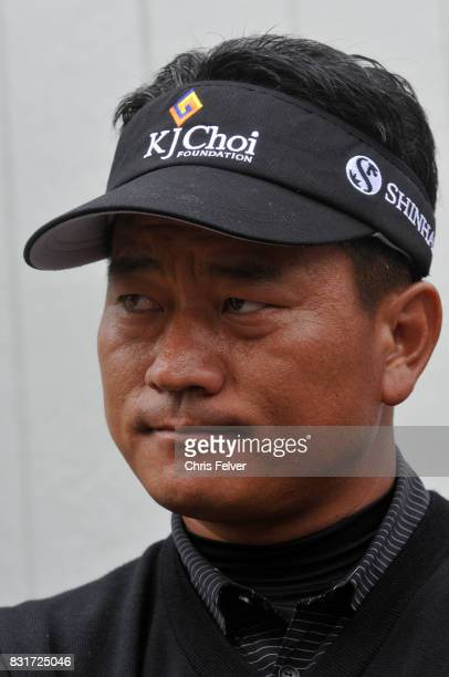 Closeup of South Korean golfer KJ Choi during the 110th US Open golf championship Pebble Beach California June 20 2010