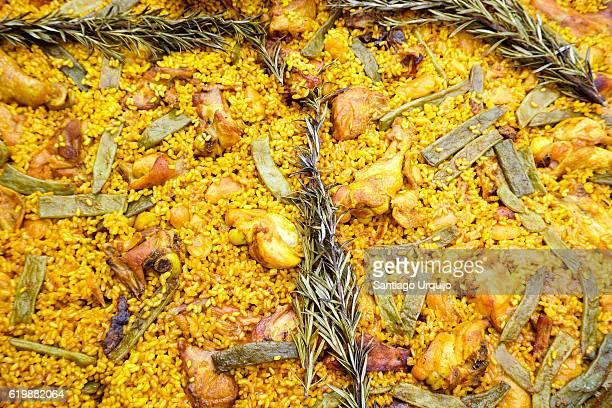 Close-up of Spanish paella