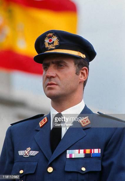 Closeup of spanish Prince Juan Carlos Madrid Spain