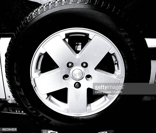 Close-Up Of Spare Tire On Car