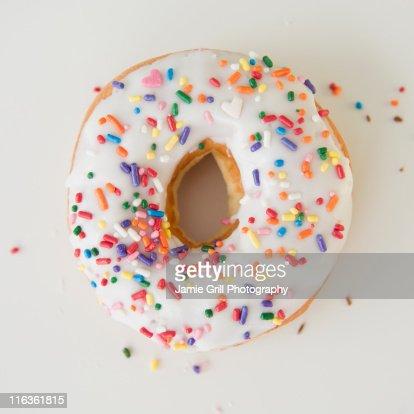 Close-up of sprinkled donut